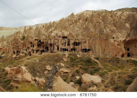 Ancient Cave Town In Cappadocia