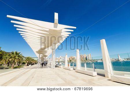 Boulevar in Malaga port MalagaAndalusia Spain.