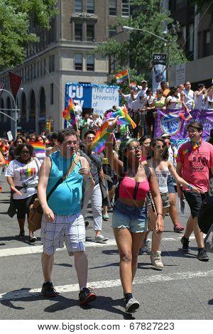 LGBT Pride Parade participants in New York City