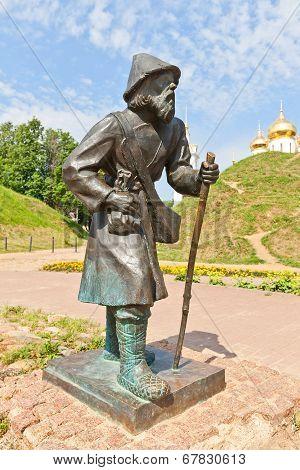 Sculpture Of Pilgrim Peasant