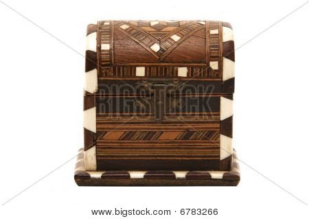 Marquetry Old Trunk