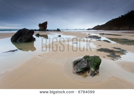 Beach Of Cudillero, Asturias, Spain