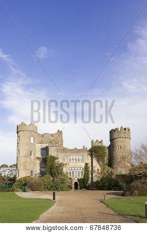 Dublin, Ireland - December 21, 2013: Malahide Castle