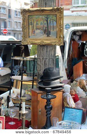 Paris Flea Market Vendor's Stall