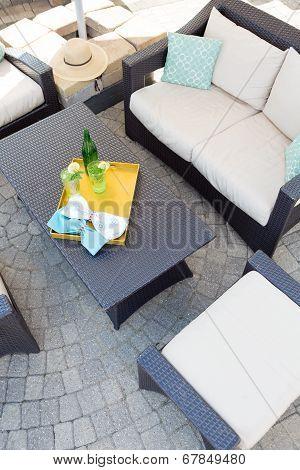 Upmarket Outdoor Patio With Garden Furniture