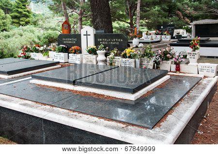 PODGORA, CROATIA, MAY 11, 2010 - Cemetery