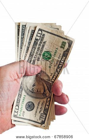 Male Hand With American Money