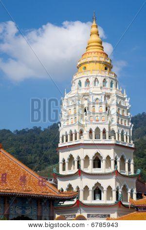 Chinese pagoda at Kek Lok Si temple taken in Penang island Malaysia poster