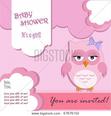 Baby shower for girl with owl