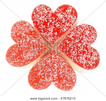 Testy jelly candies isolated on white