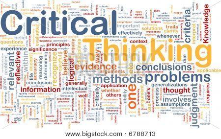 Koncepcja tło krytycznego myślenia