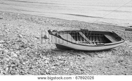 Fisherman's Boat At The Seaside