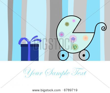 Abstract vector greetings card for design use. poster