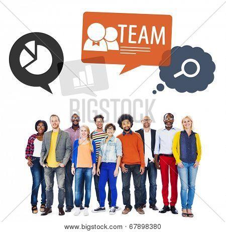 Teamwork in diversified environment.
