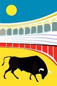 Bull bullfighter Vector Illustration