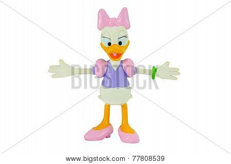 Deasy Duck From Mickey Mouse And Friends Cartoon Animation.