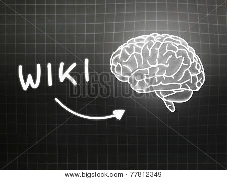 Wiki Brain Background Knowledge Science Blackboard Gray