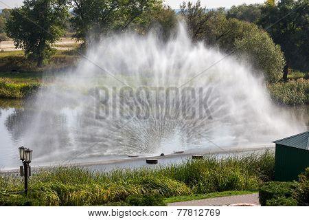 Russia. Tambov. Fountain On River Tsna