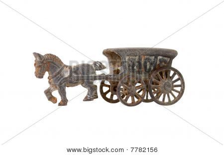 Cast Iron Horse & Carriage Ice Truck