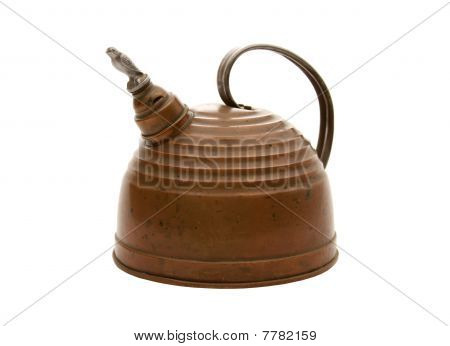 Copper Teapot with Bird Whistle