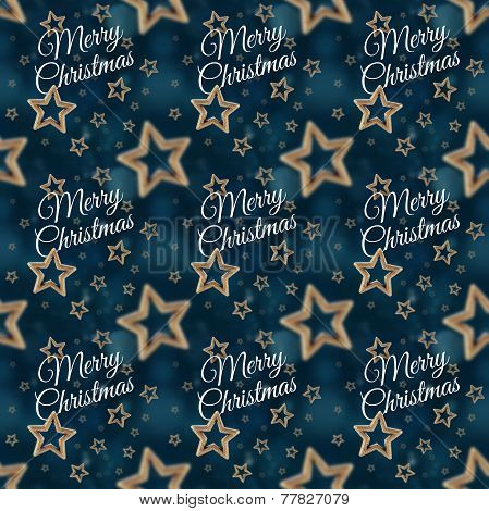 Merry Christmas On The Night Stars Seamless Pattern 2