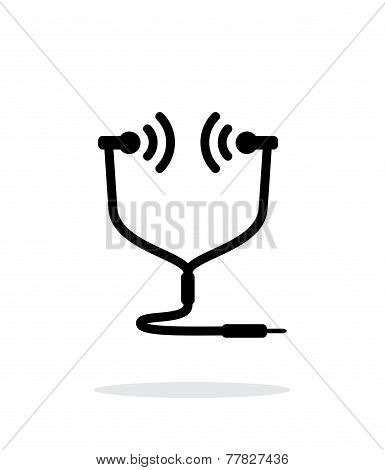 In-ear monitor icon on white background.