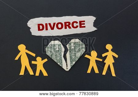Red Divorce Text