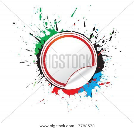 abstract grunge labels vector illustration,