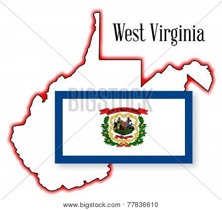 West Virginia State Map And Flag