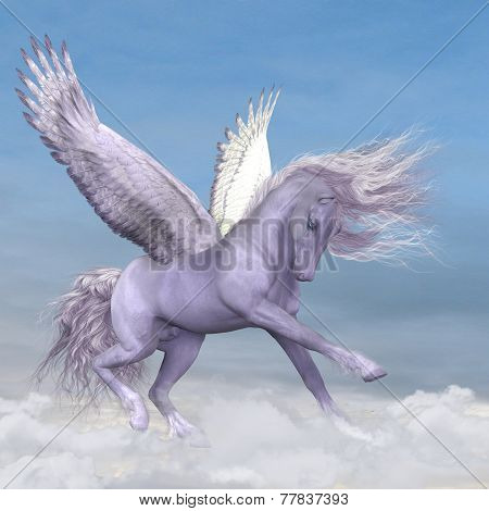Pegasus Among The Clouds