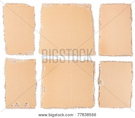 Six Cardboard Pieces