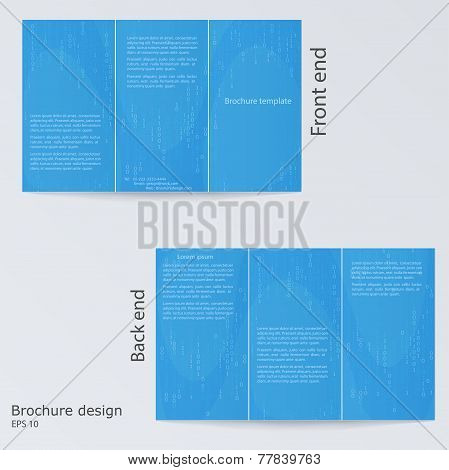 Three Fold Business Brochure Template, Magazine Cover, Or Corporate Design Template Advertisment