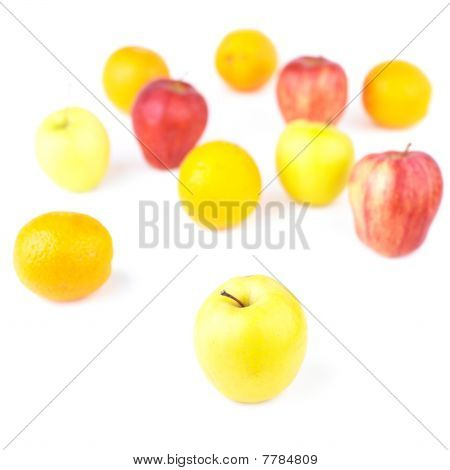 Yellow Apple And Fruit Mix