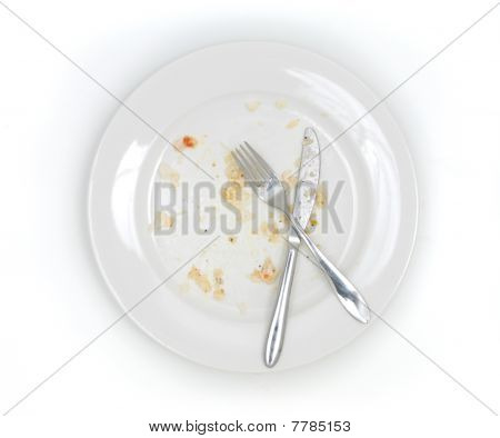 Dirty Plate From Above