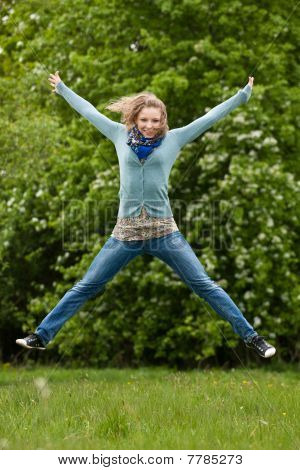 Jumping Girl Outdoor