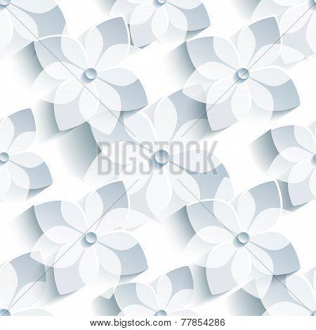 Background Seamless Pattern With Stylized Sakura