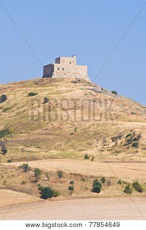 Monteserico Castle. Genzano di Lucania. Italy.