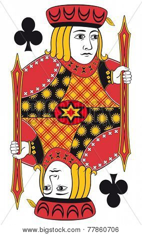 Jack of clubs without playing card background