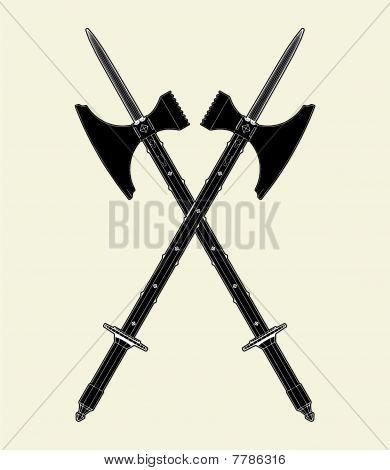 Sword Battle Axe Vector