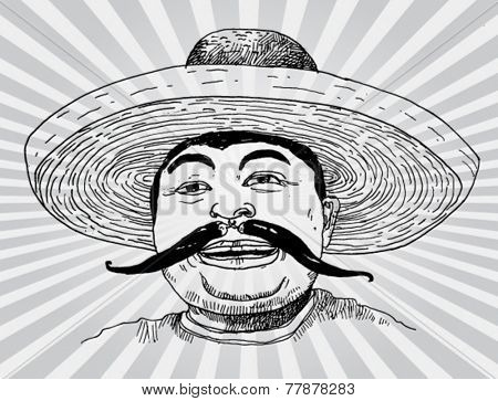 A Mexican With Chili Mustache