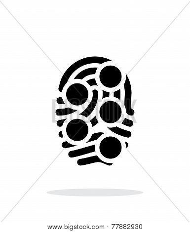 Fingerprint loop type scan icon on white background. Vector illustration. poster