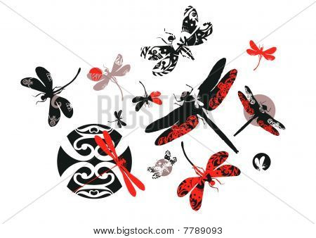 Decorative dragonflies