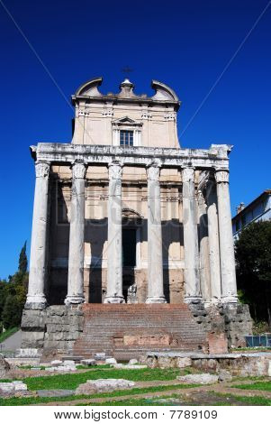 Ancient Temple In Roman Forum, Rome