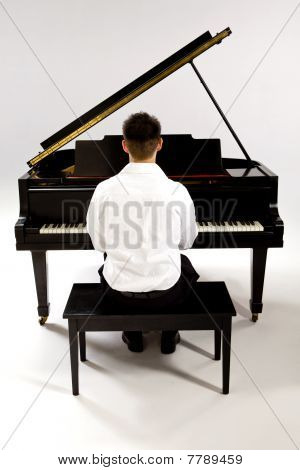 Man With Grand Piano