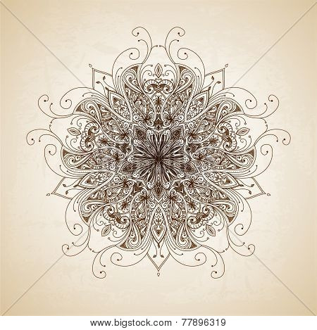 Vintage vector pattern. Hand drawn abstract background