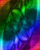 rainbow background with some lines in it poster