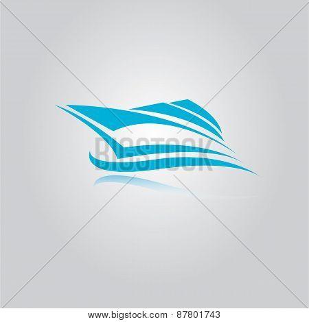vector yacht icon