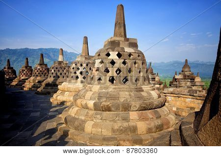 Borobudur Temple, Java, Indonesia.
