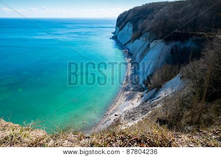 The shore of the Baltic sea. Rugen island