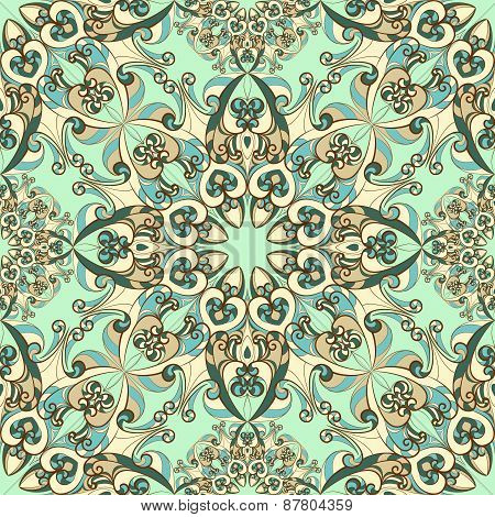 Vintage pattern with ethnic ornament. Vector